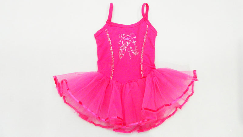 Hot Pink Ballet Shoe Ballet  Dress