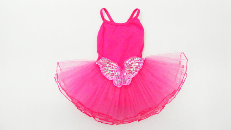 Hot Pink Sequin Butterfly Ballet Dress