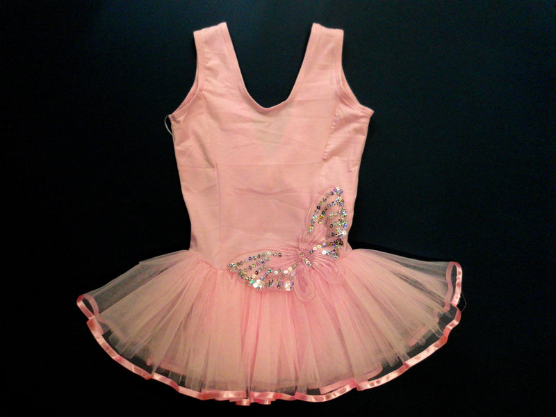 Pink Butterfly-Side Ballet Dress