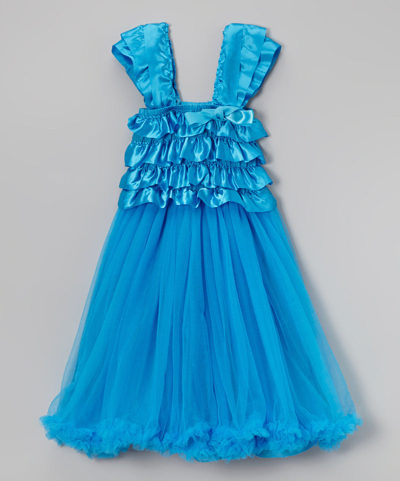 Blue Ruffle Top Petti Dress