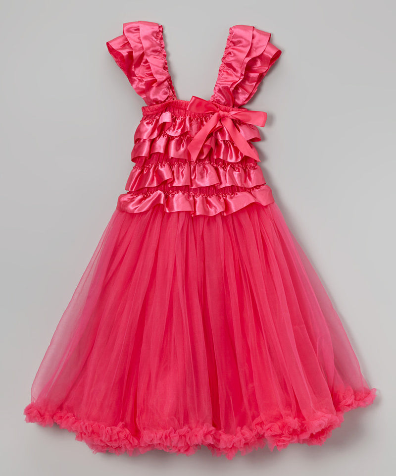 Hot Pink Ruffle Top Petti Dress