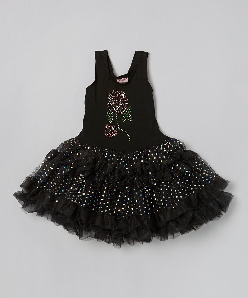 Black Rose Sparkly Petti Dress