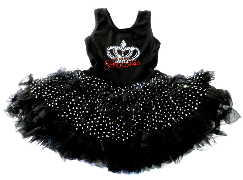Black Princess Crown Sparkly Petti Dress