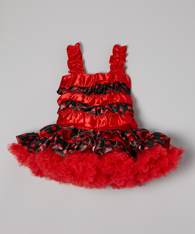 Red Ruffles Cupcake Dress