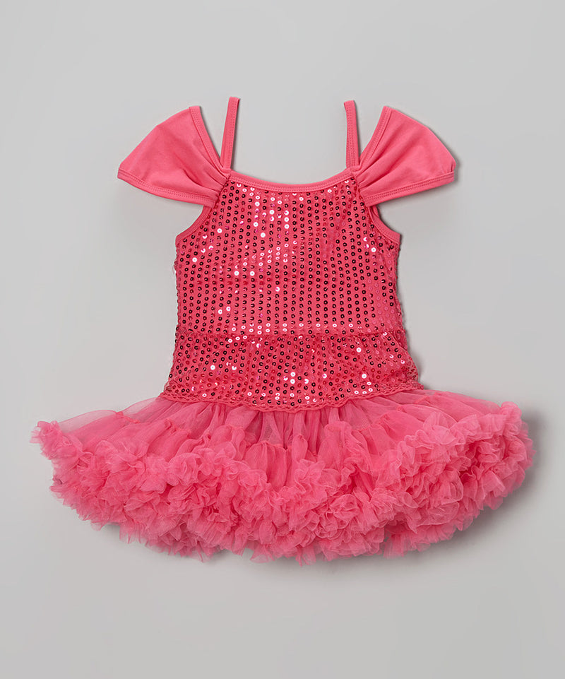 Hot Pink Sequin Princess Dress