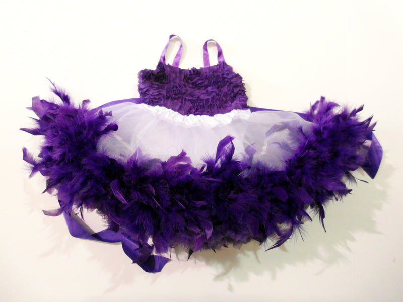 Purple / White Feather Dress