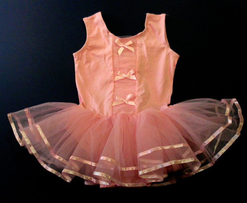 Pink Bows Front Frills Ballet Dress