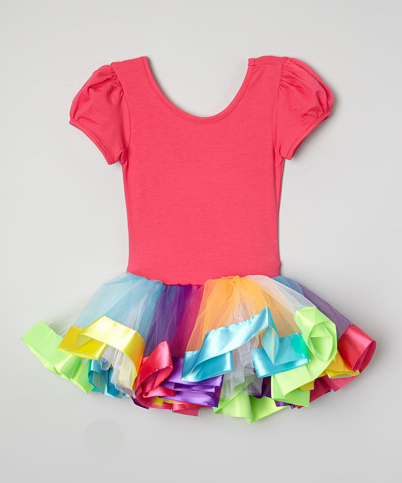 Hot Pink & Rainbow Ballet Dress