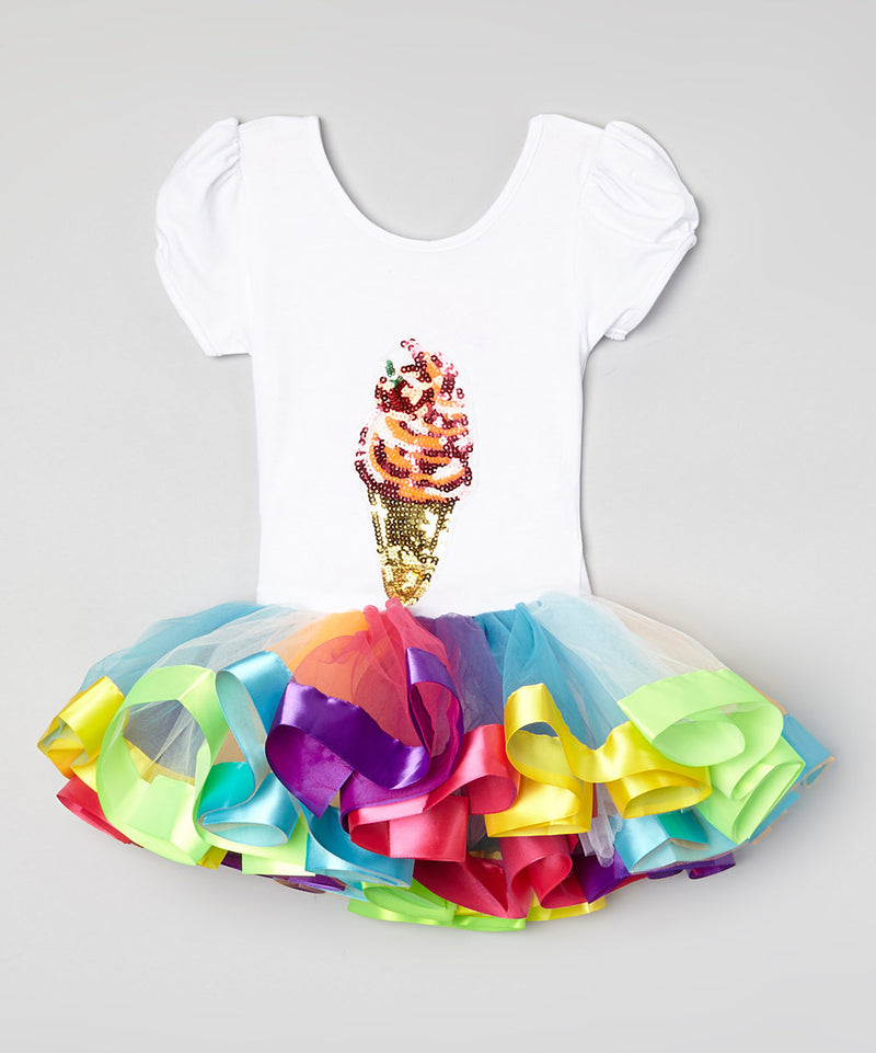 Rainbow Ice Cream Ballet Dress