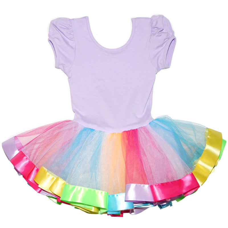 Lavender & Rainbow Unicorn Ballet Dress