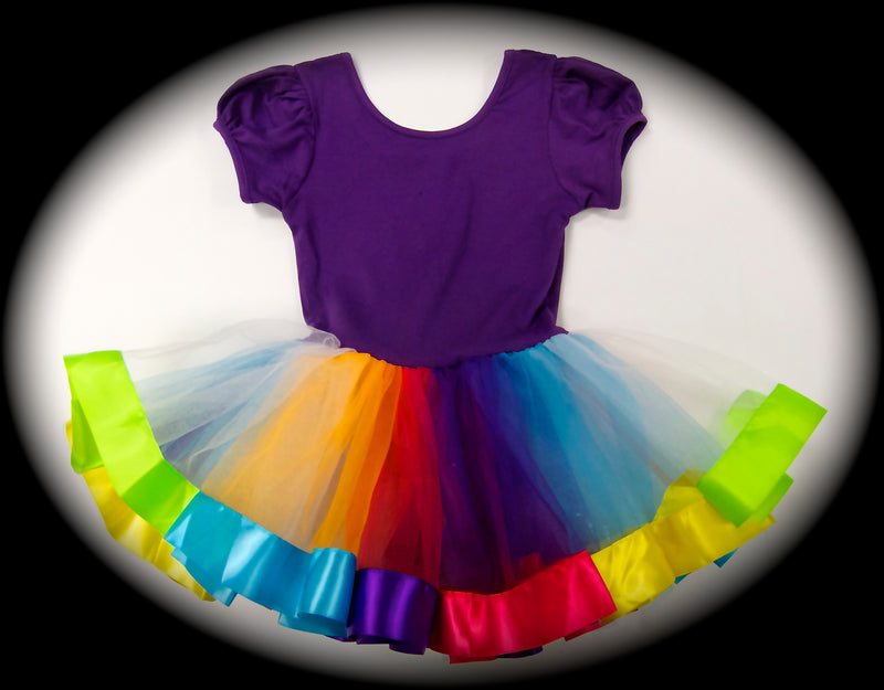 Purple & Rainbow Ballet Dress