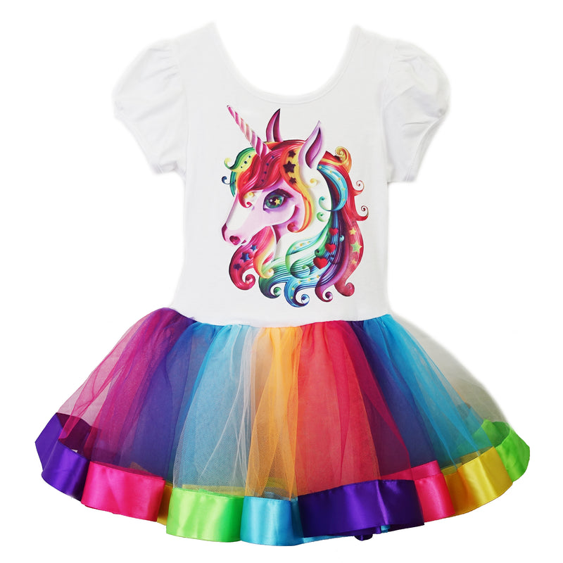 Unicorn Rainbow Ballet Dress
