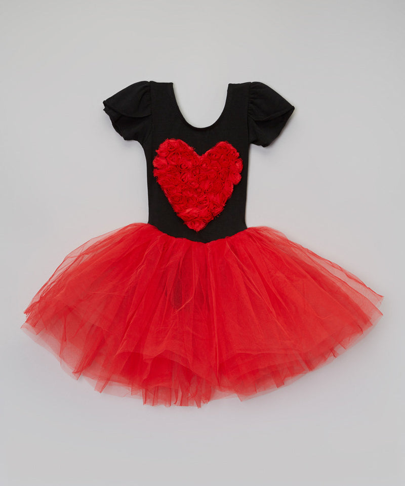 Black/Red Heart Ballet Dress
