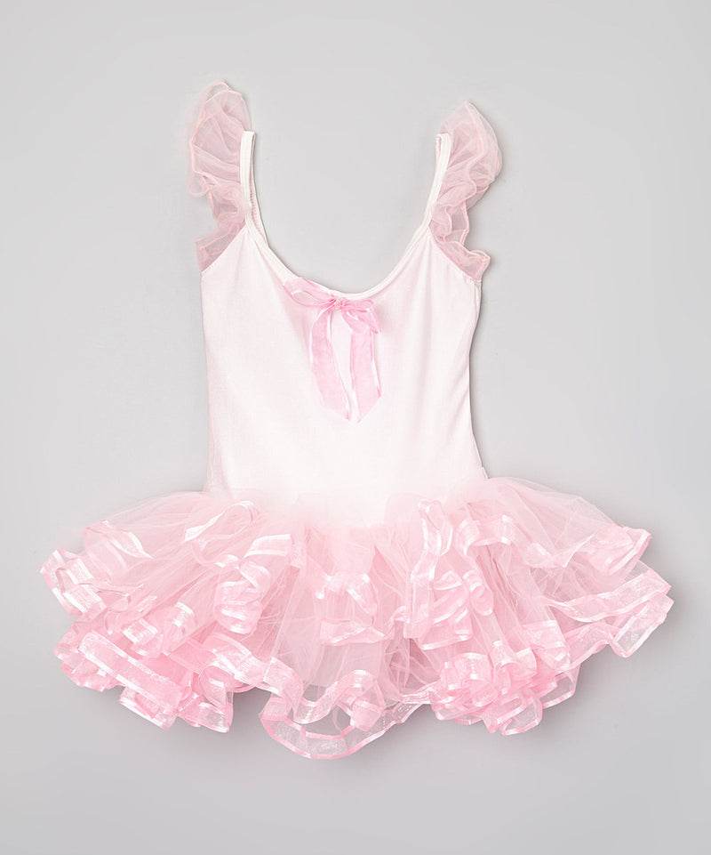 Pink Ribbon Lycra Ballet Dress