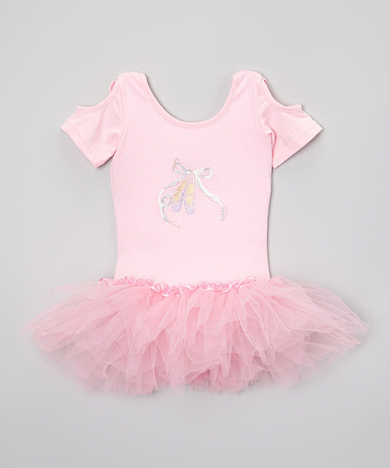 Pink Glitter Ballet Slipper Ballet Dress
