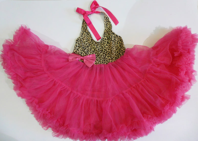 Cheetah Hot Pink Petti Dress