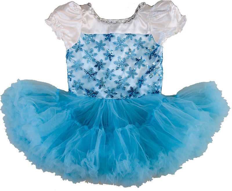 Baby Blue Snowflake Elsa Dress