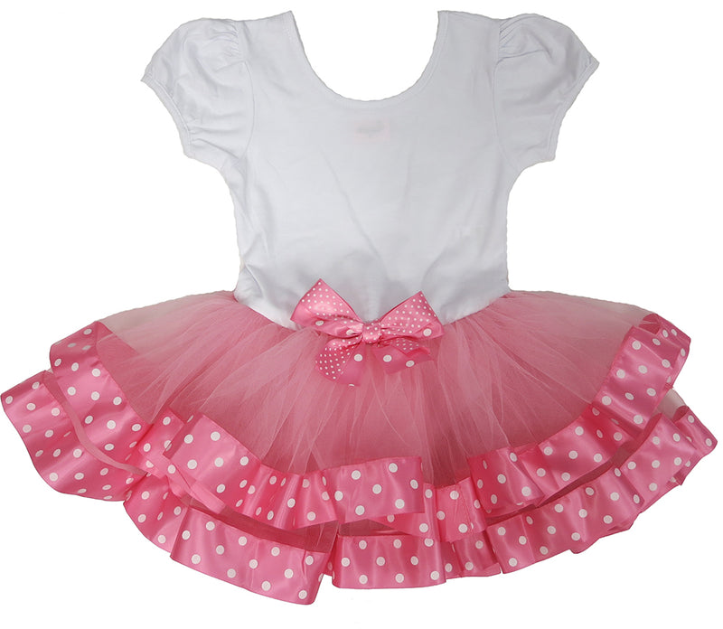 Pink Polka Dot Ribbon/Bow  Ballet  Dress