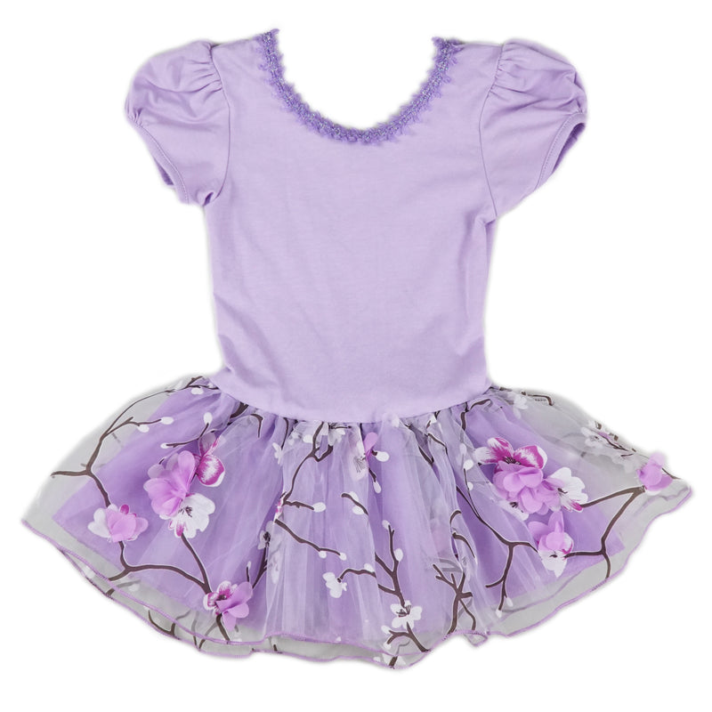 Purple Plum Flower Ballet Dress