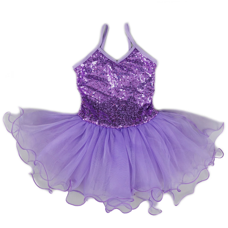 Purple Sequins Ballet Dress