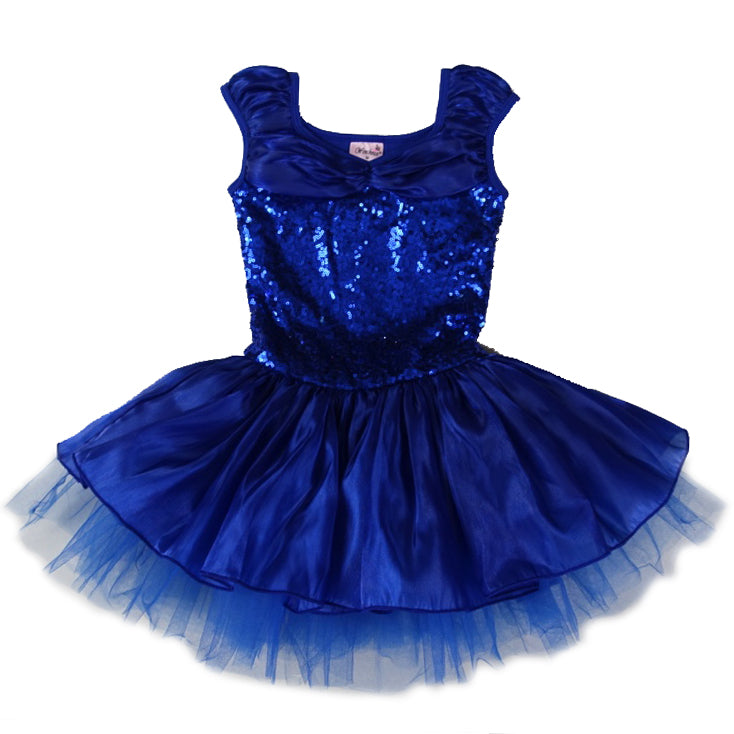 Royal Blue Sequins Ballet Dress