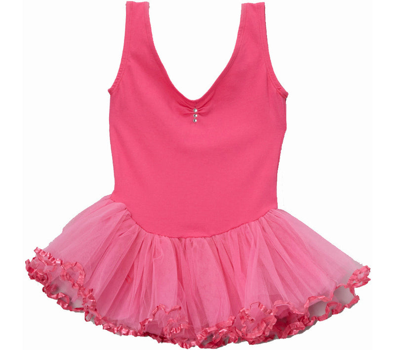 Hot Pink  Rhinestone Ballet  Dress