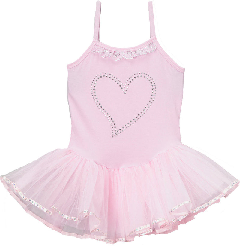 Pink Rhinestone Heart Ballet  Dress
