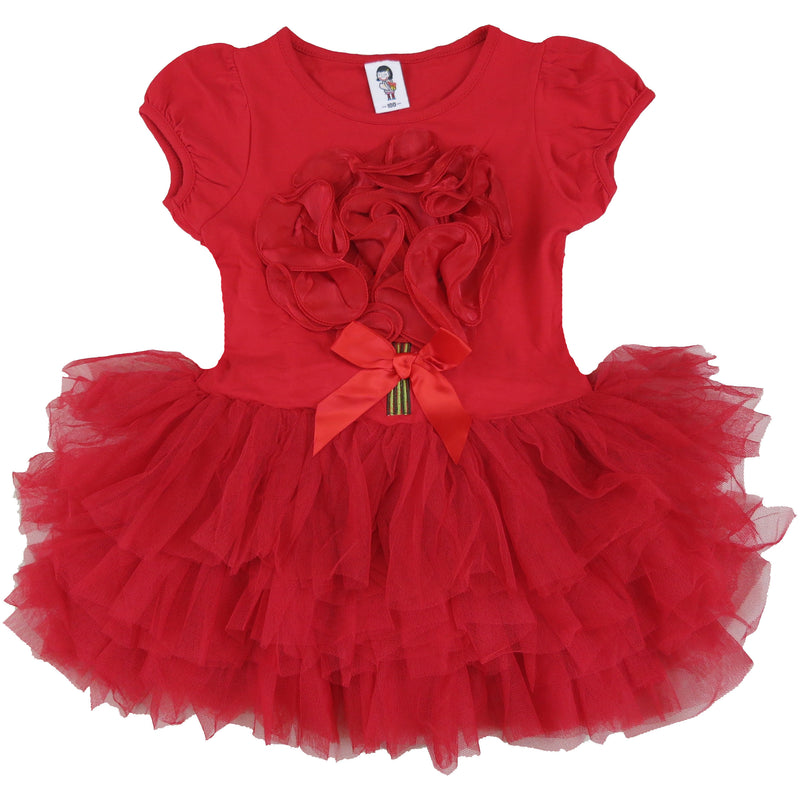 Red 3-D Flower Dress