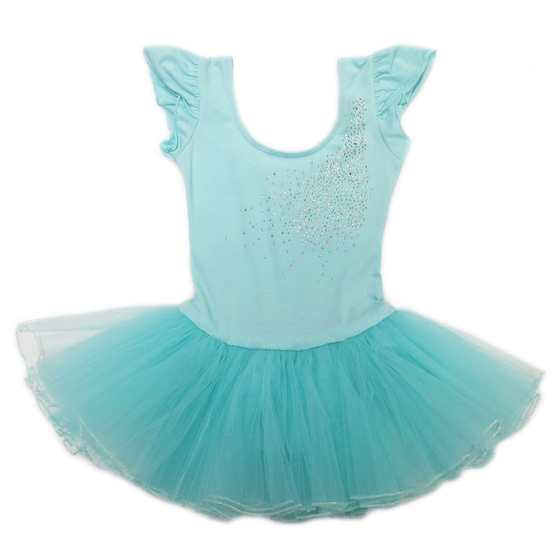 Mint Rhinestone & Bow Ballet Dress