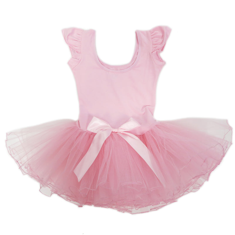 Pink Rhinestone & Bow Ballet Dress