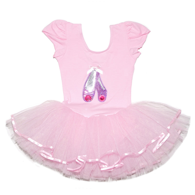 Pink Sequins Ballet Shoes Ballet Dress