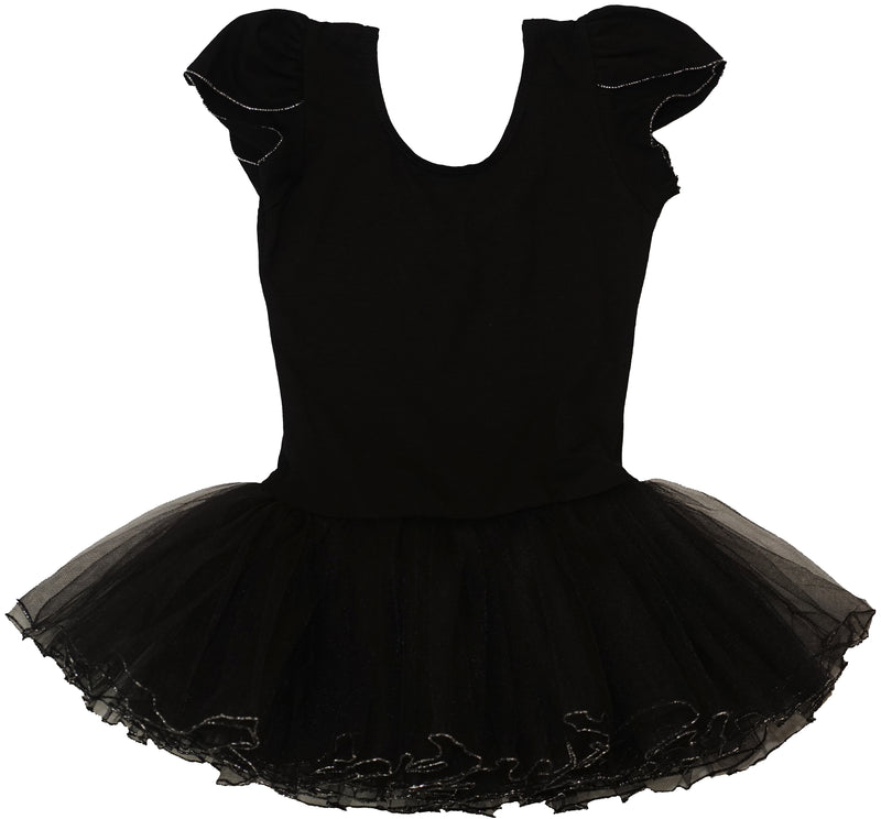 Black Silver Trim Ballet Dress