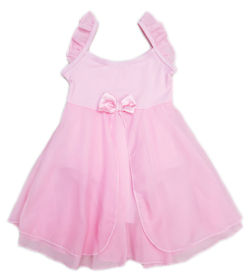 Pink Empire-Waist Chiffon Skirted  Ballet Dress