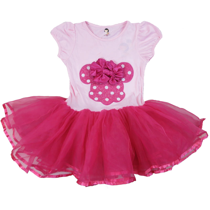 Pink & Hot Pink Minnie Bow Dress