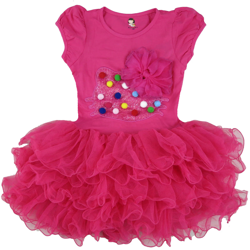 Hot Pink Kitty Bow Dress