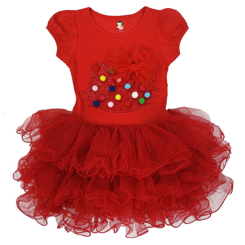 Red Kitty Bow Dress