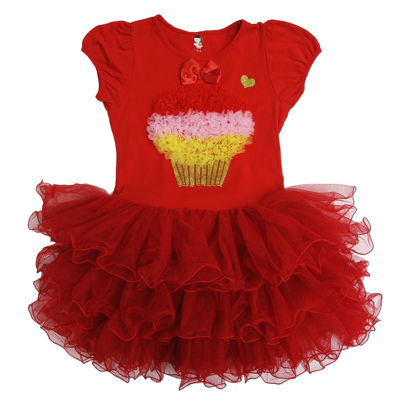 Red Ruffle Cupcake Dress
