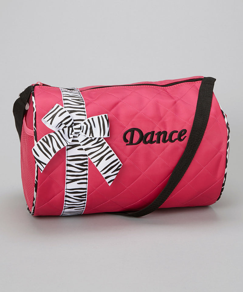 Hot Pink Dance Bag With Zebra Ribbon