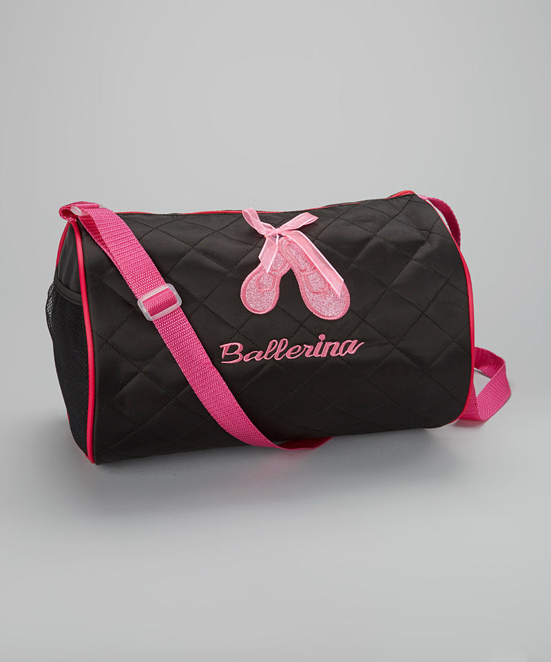 Black Sparkle Ballet Shoe Duffel