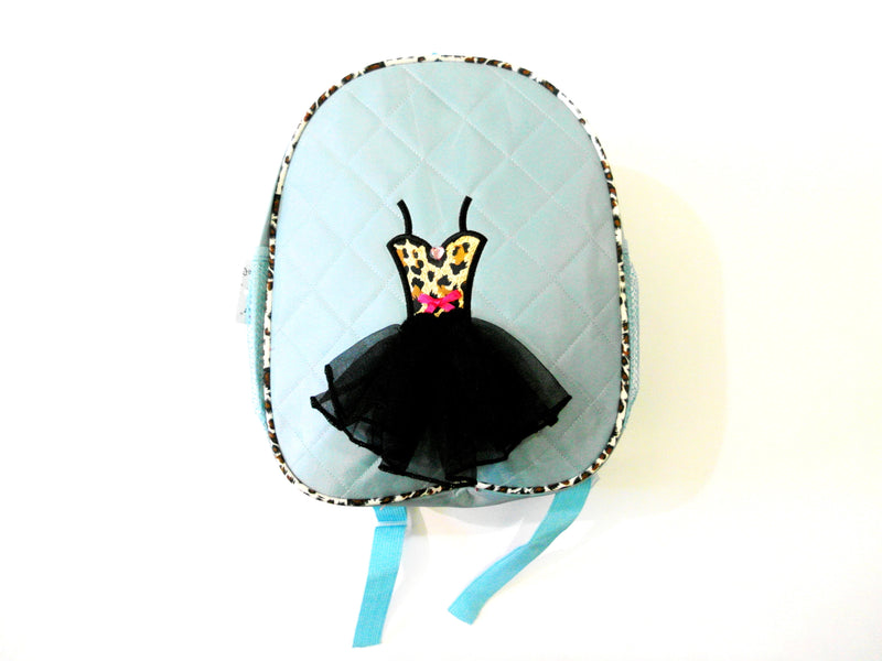Blue Back Pack With Cheetah Tutu
