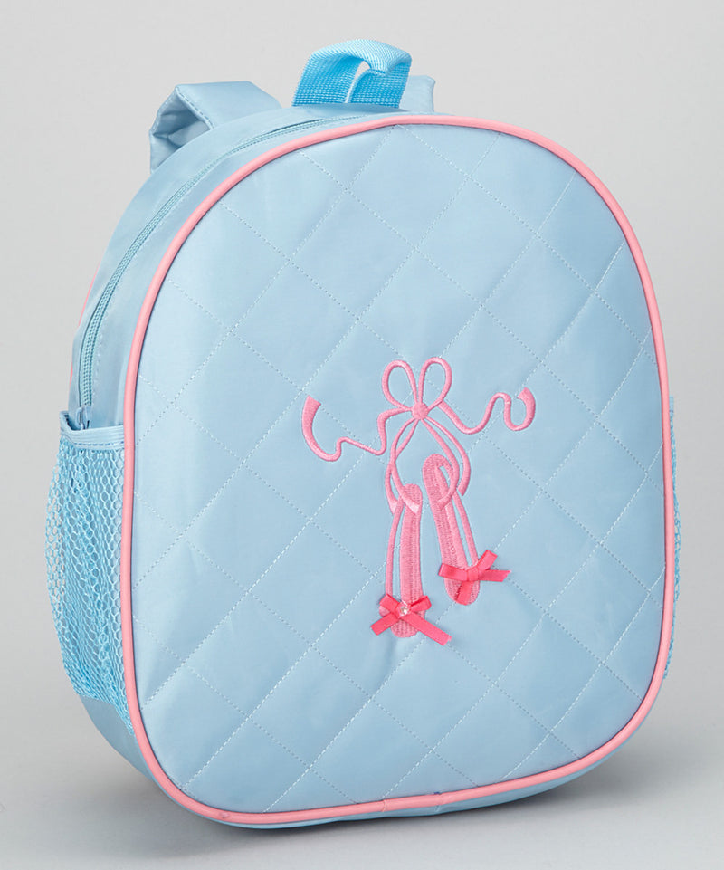 Blue Back Pack With Ballet Shoe