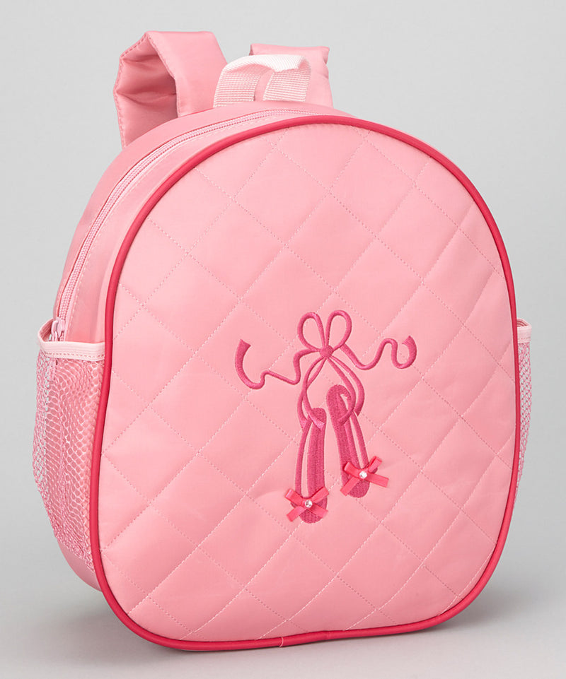 Pink Back Pack With Ballet Shoe