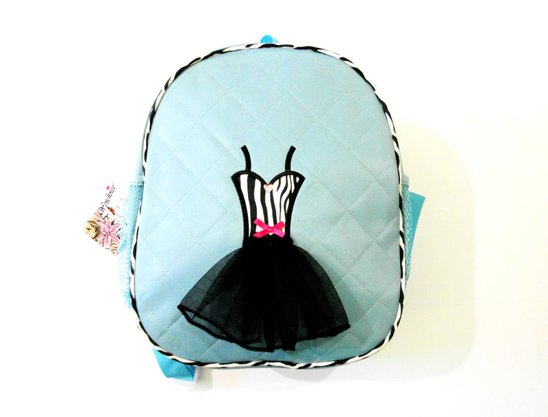 Blue Back Pack With Zebra Tutu