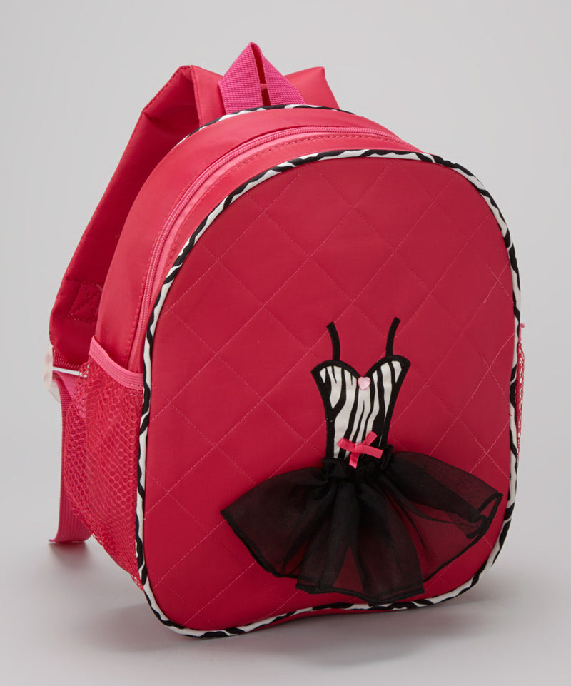 Hot Pink Back Pack With Zebra Tutu