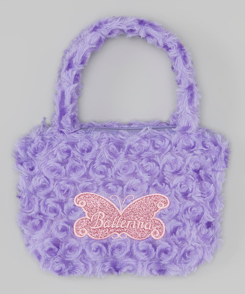 Purple Ballerina Velvet Purse