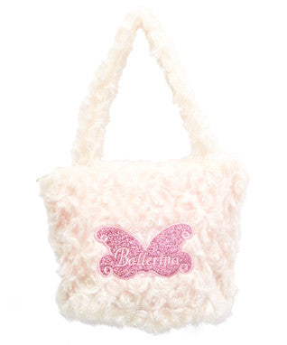 White Ballerina Velvet Purse