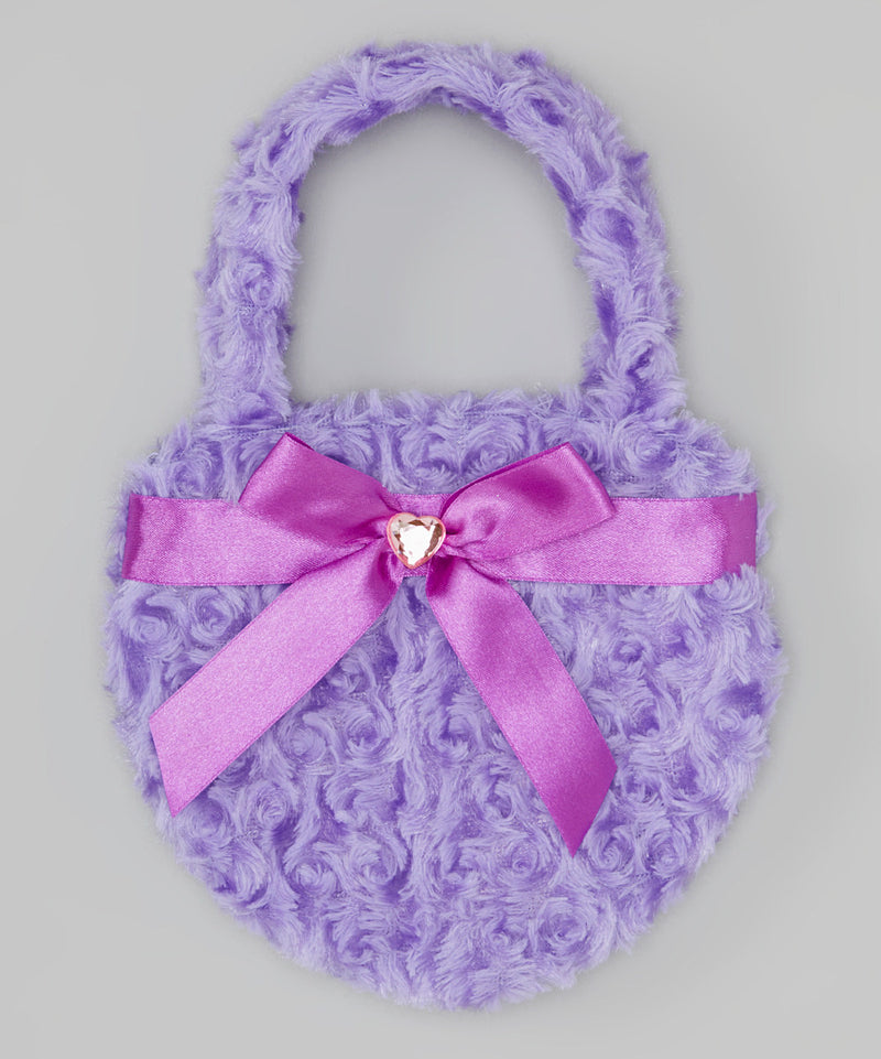 Purple Heart Velvet Purse