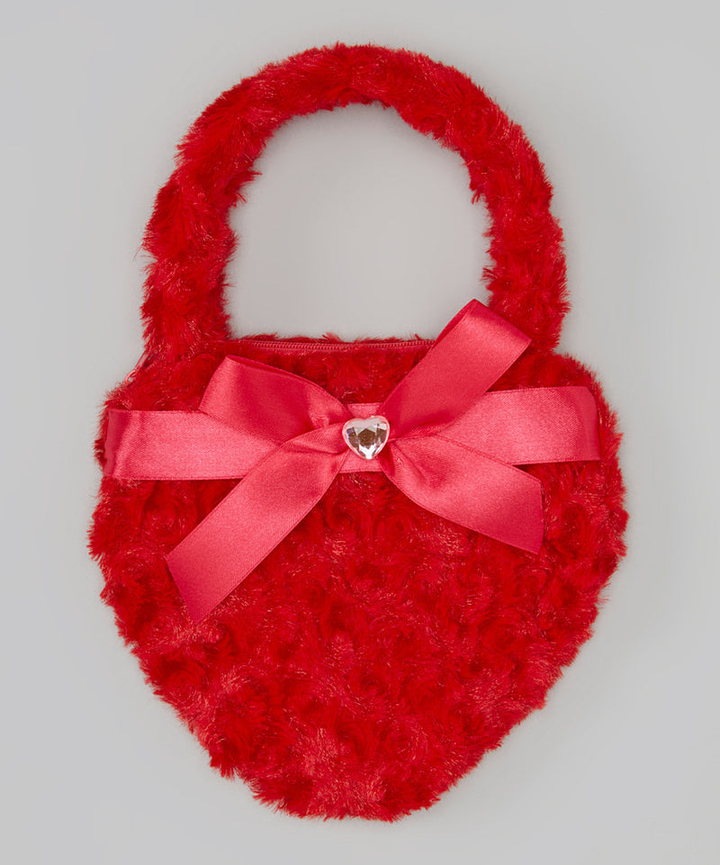 Red Heart Velvet Purse