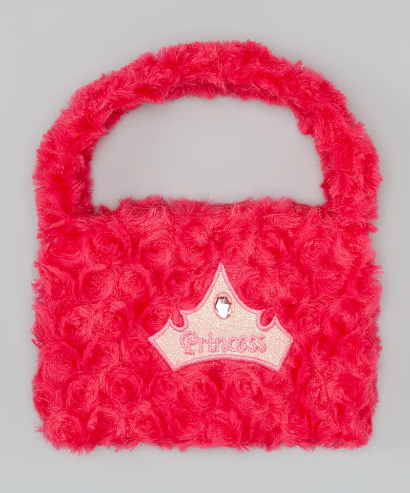 Hot Pink Princess Velvet Purse