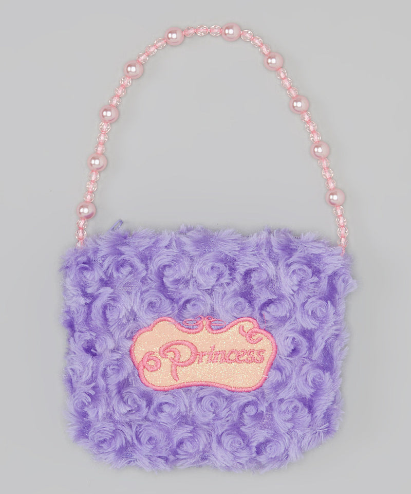 Purple Princess Pearl Velvet Purse